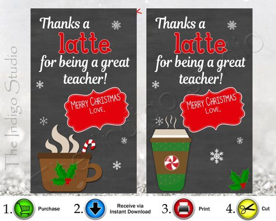 photograph relating to Thanks a Latte Christmas Printable identified as Xmas Owing A Latte Trainer reward Tags 2 Alternate