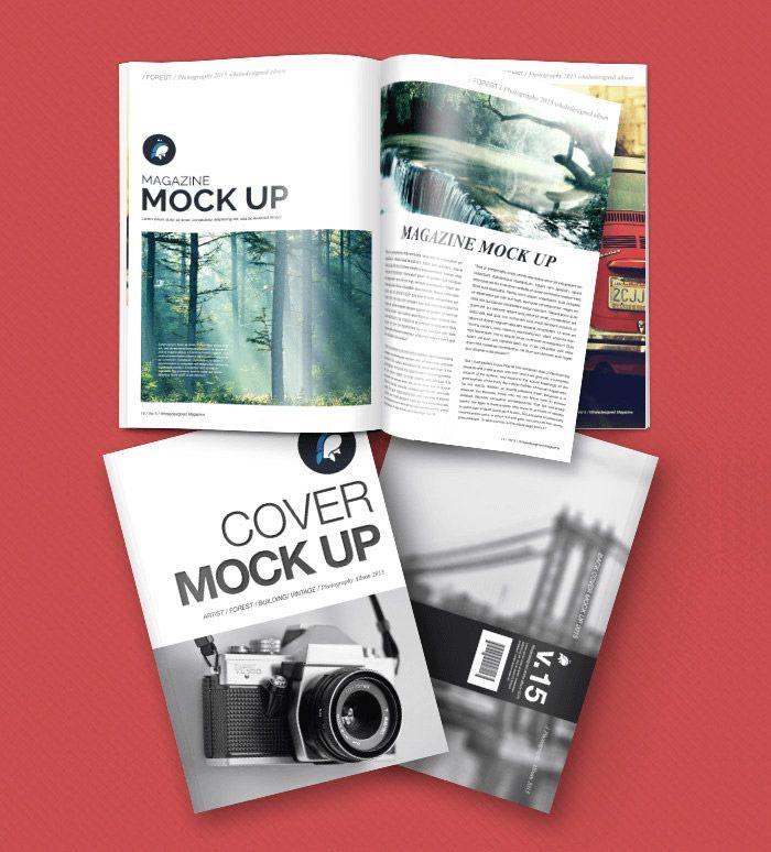30 Free Magazine Psd Mockups To Download Hongkiat Magazine Mockup Free Magazine Mockup Graphic Design Mockup