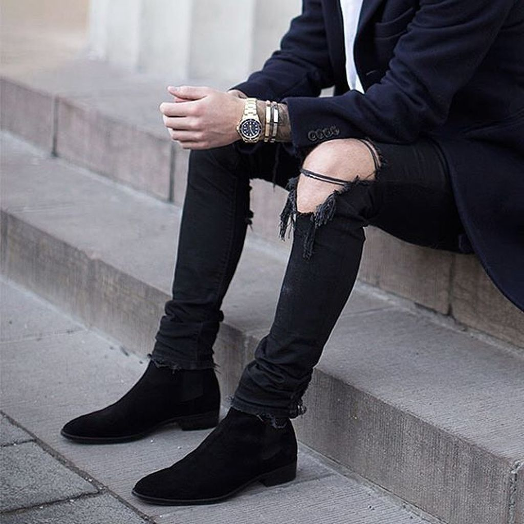 Pin By James Reid On Shoes Men Boots Outfit Men Chelsea Boots Men Chelsea Boots Outfit