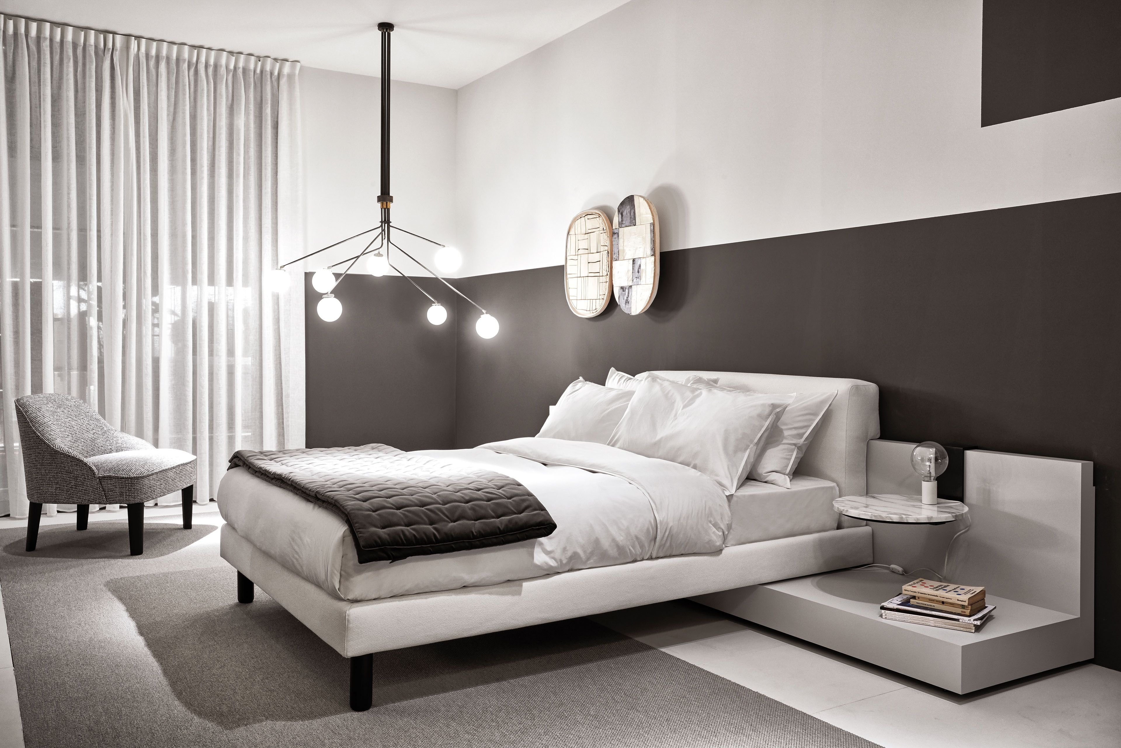 Cliff Modular Bed With Kira Small Armchair Modular Bed Bed