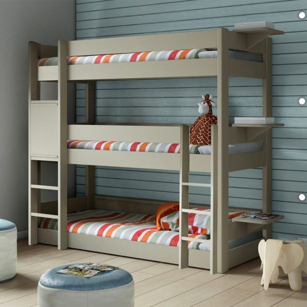 Bedroom Triple White Bunk Bed White Triple Bunk Bed With Storage