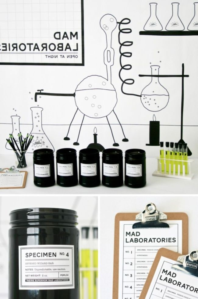 Mad Laboratory Halloween Party Game {free printable} | Mad scientist ...