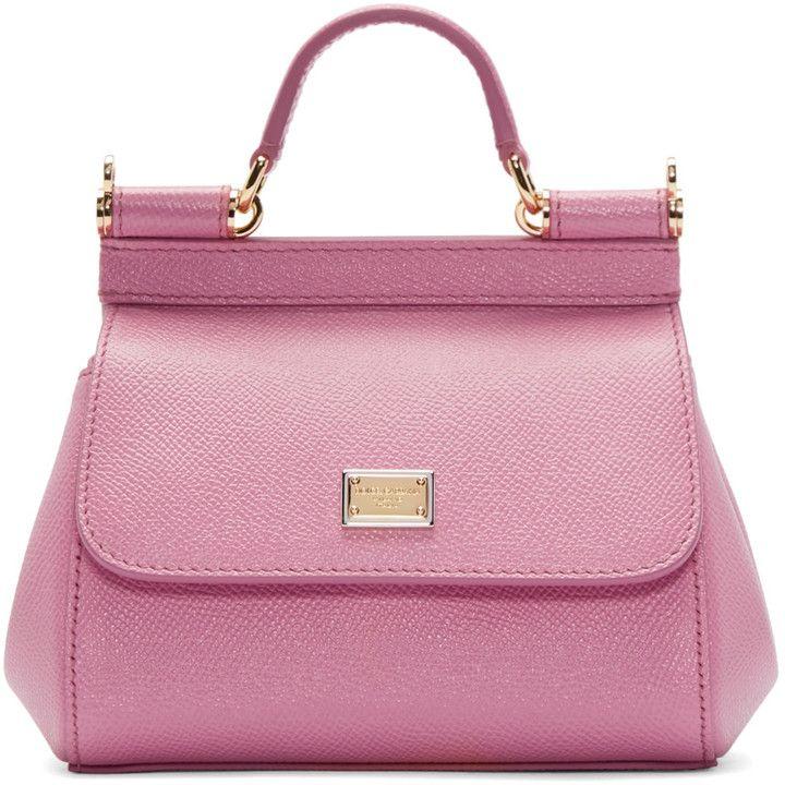 Dolce   Gabbana Pink Mini Miss Sicily Bag  c7ddbeb0135f2