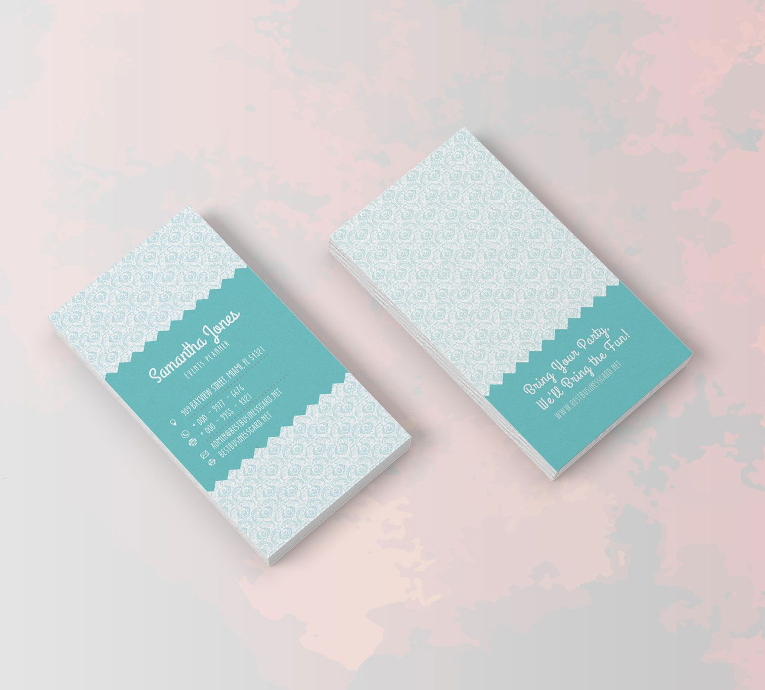 Free PSD Templates: Party Planner Business Cards | Unique Business ...