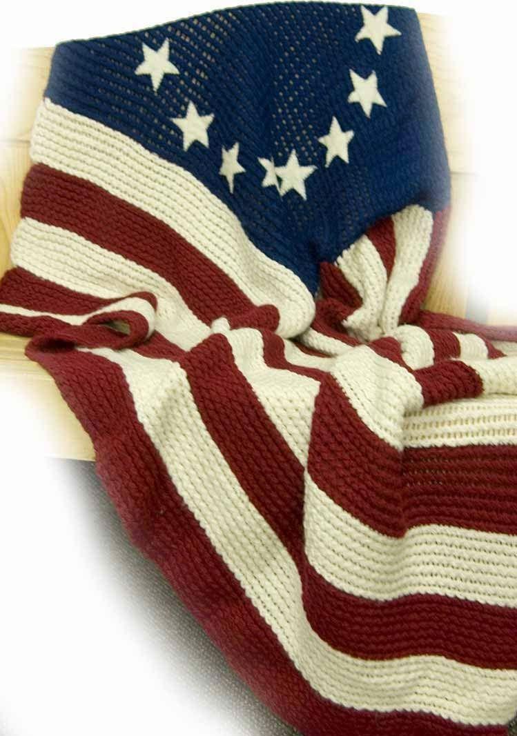 The Knifty Knitter: Old Glory Blanket - Free Loom Pattern | Loom ...