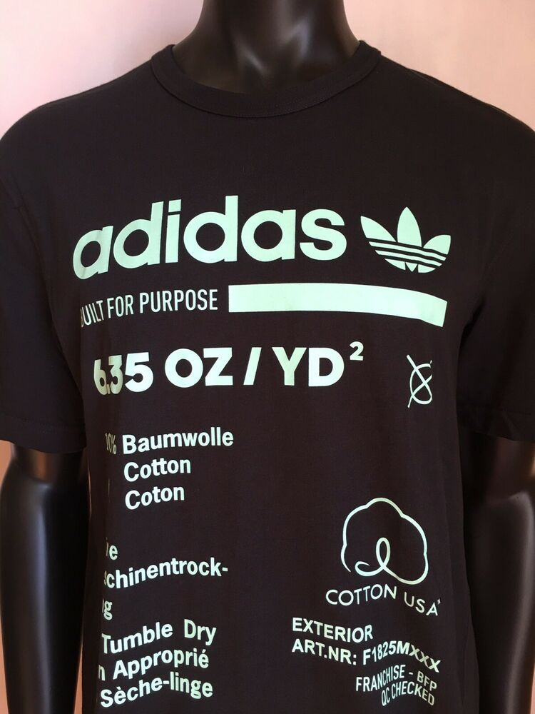 ADIDAS MEN'S KAVAL GRAPHIC BUILT FOR PURPOSE TEE SHIRT NWT