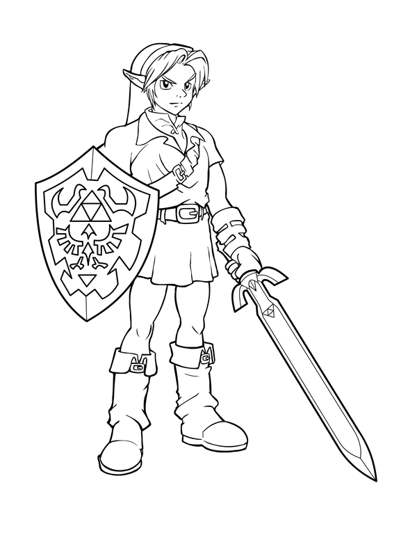 Ink Link From Zelda By Charfade Coloring Books Coloring Pages Printable Coloring Book