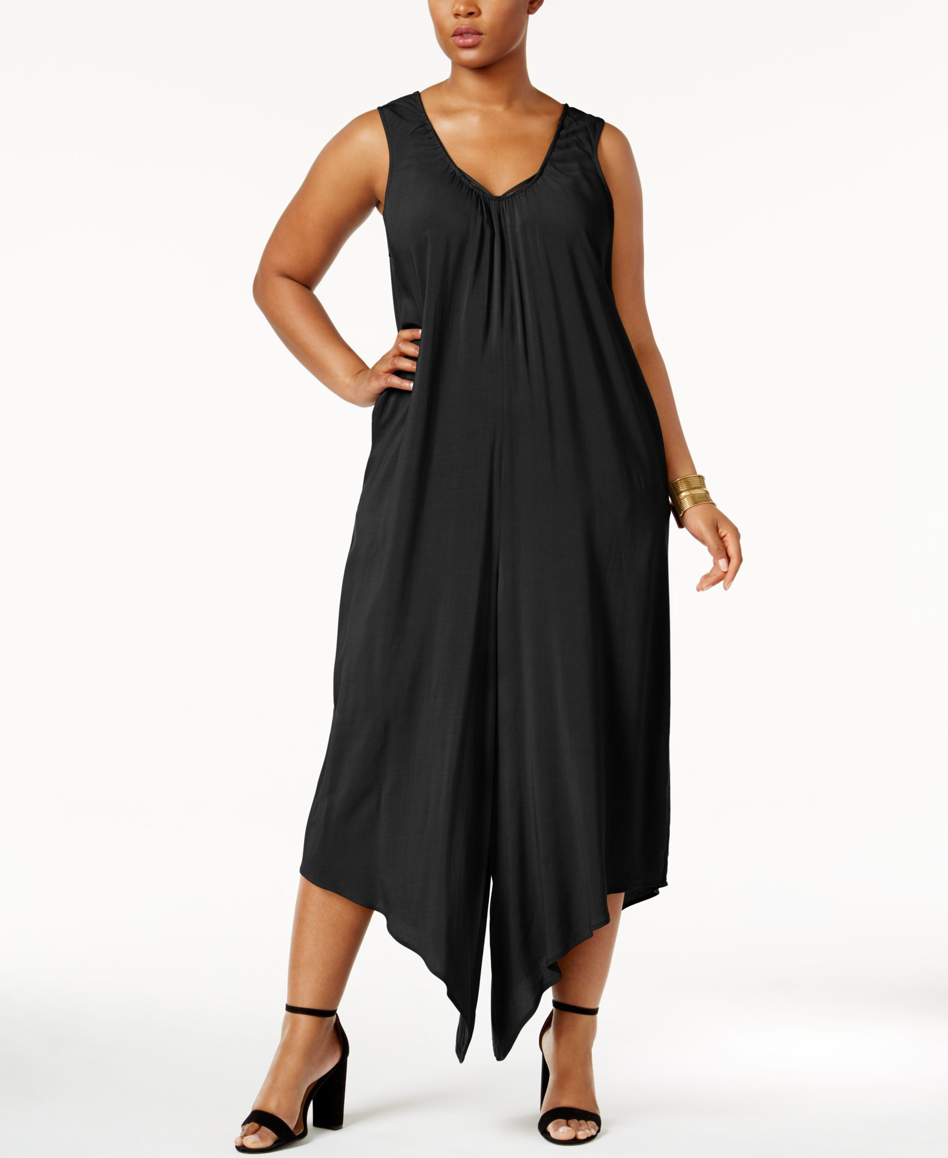 Love Scarlett Plus Size Peekaboo Sleeveless Jumpsu