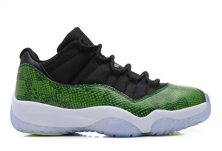 Jordan Green Snakeskin 11s low 2014