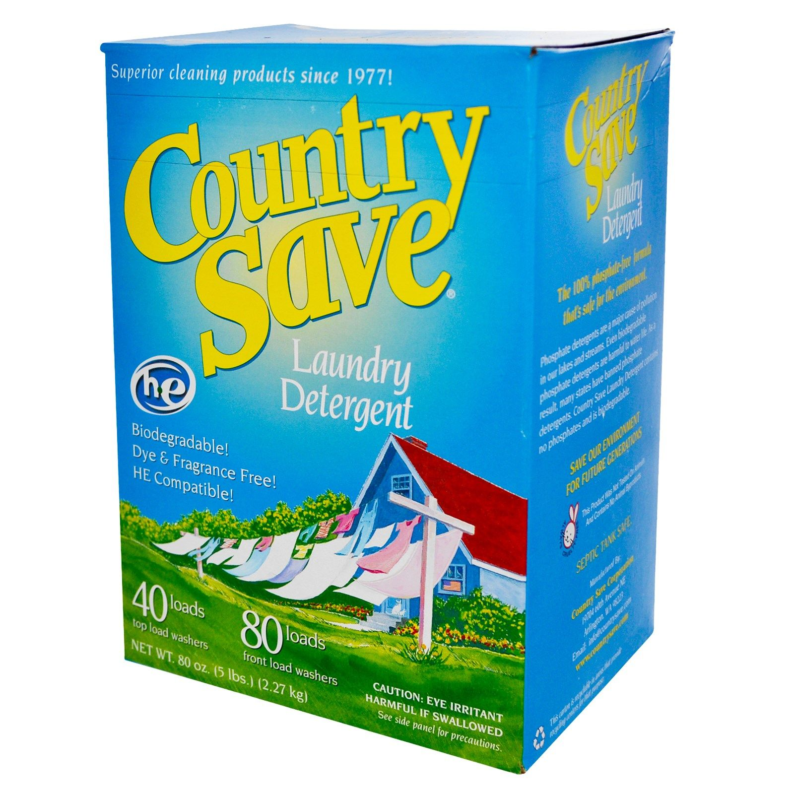 Country Save Laundry Detergent 80 Oz 2 27 Kg Laundry