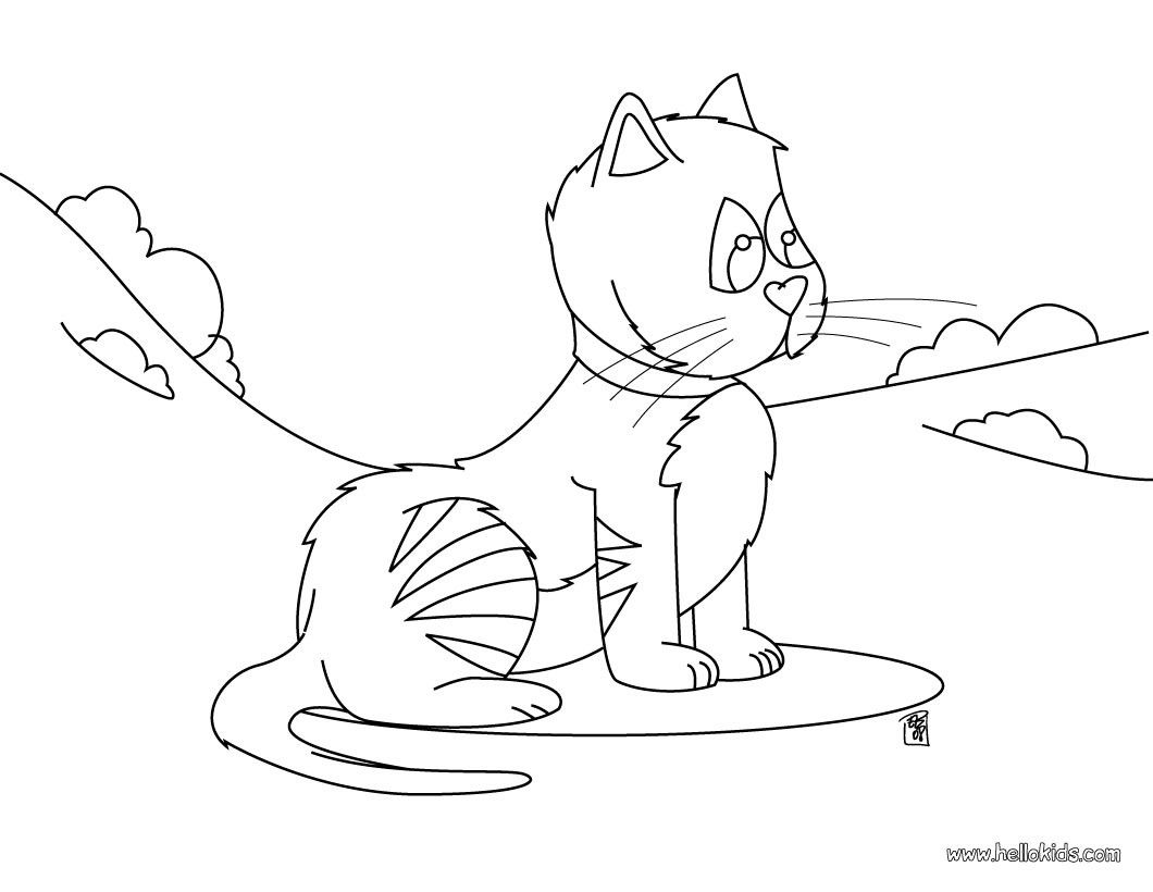 You Can Print Out For Free This Funny Cat Coloring Page Nice Cat Drawing For Kids More Animals Coloring Page Cat Coloring Page Funny Cats Cat Drawing For Kid