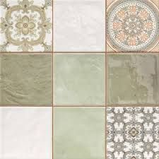 Image Result For Mixing Plain And Patterned Tiles Kitchen Wall