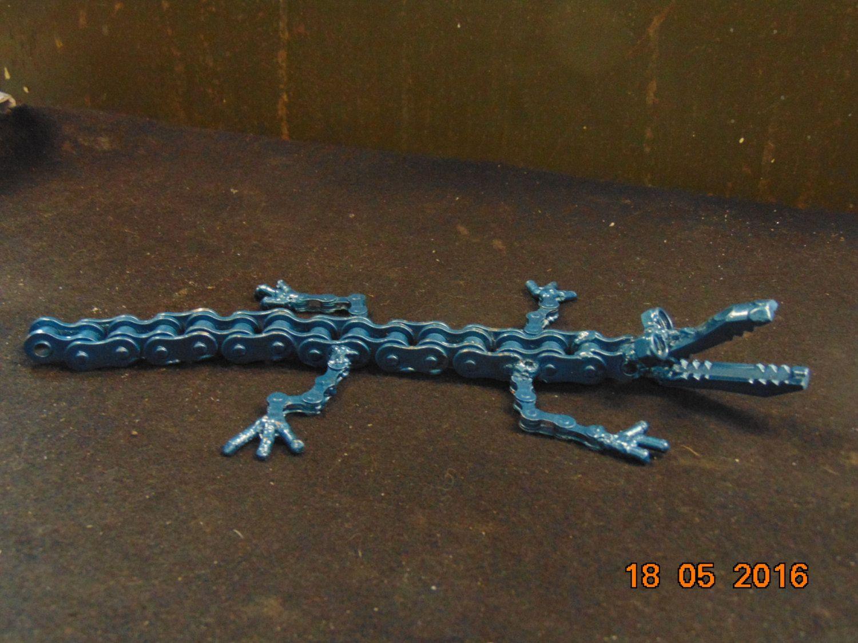 Recycled metal Crocodile by JKsHandmadeEmporium on Etsy