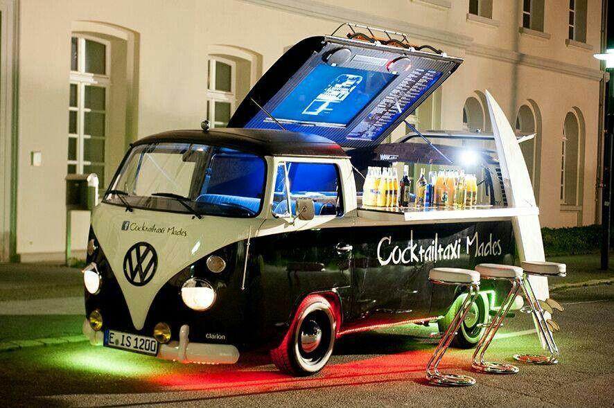 mobile cocktail bar campers pinterest vw volkswagen volkswagen and vw. Black Bedroom Furniture Sets. Home Design Ideas