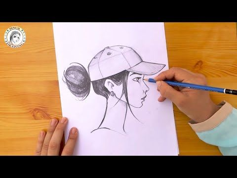 Pin By Hd Drawing Academy On Drawing For Beginners Cap Girl Drawings Drawing For Beginners