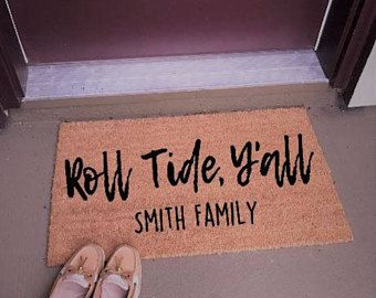 Roll Tide Yu0027all Front Door Rug, Alabama Football Rug, Roll Tide Decor, Alabama  Home Decor, Personalized Front Door Rug