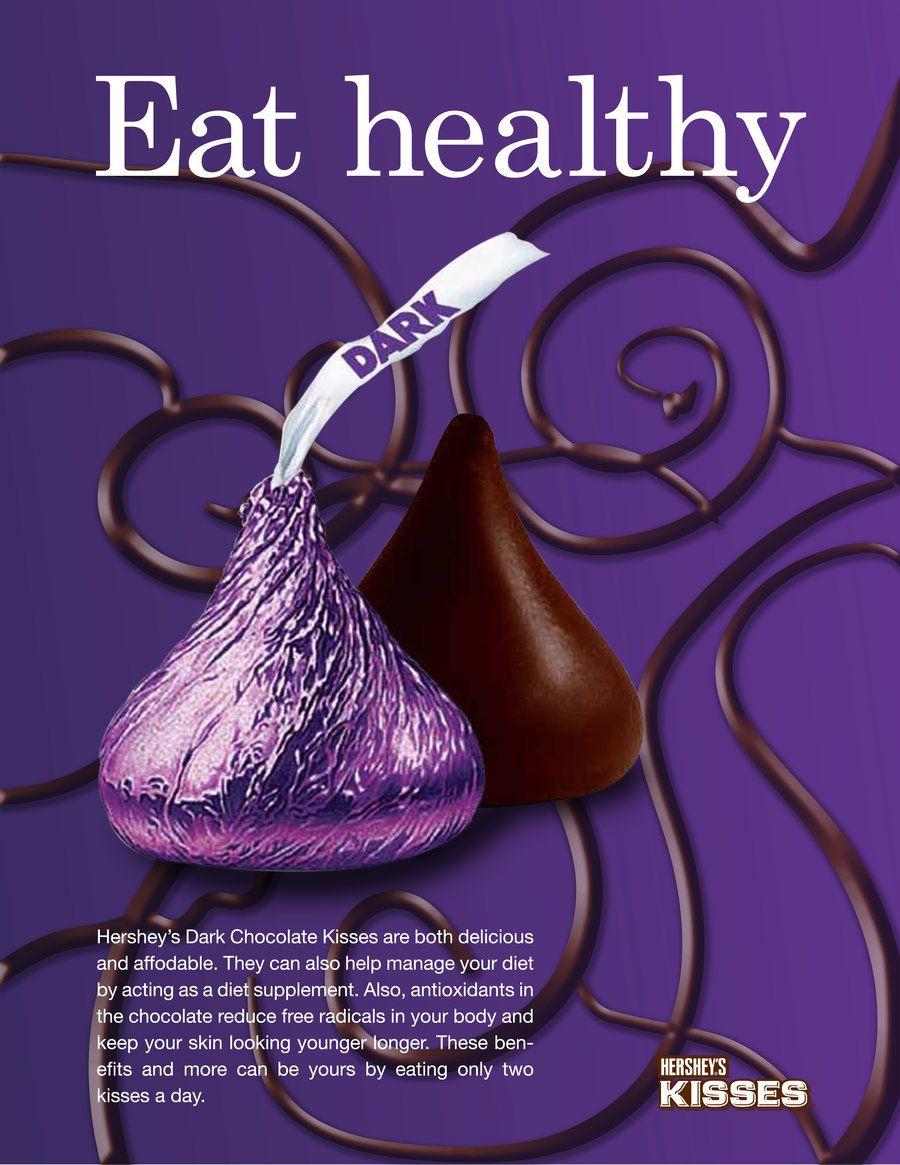Hershey's Dark Chocolate Kiss Ad (image dominant) by Arekage ...