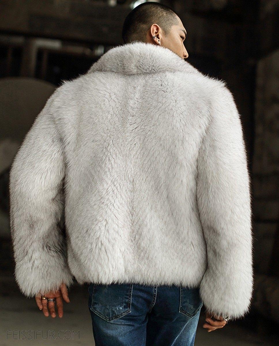 Men S Fox Fur Bomber Jacket Mens Fur Coat Jackets Mens Fur