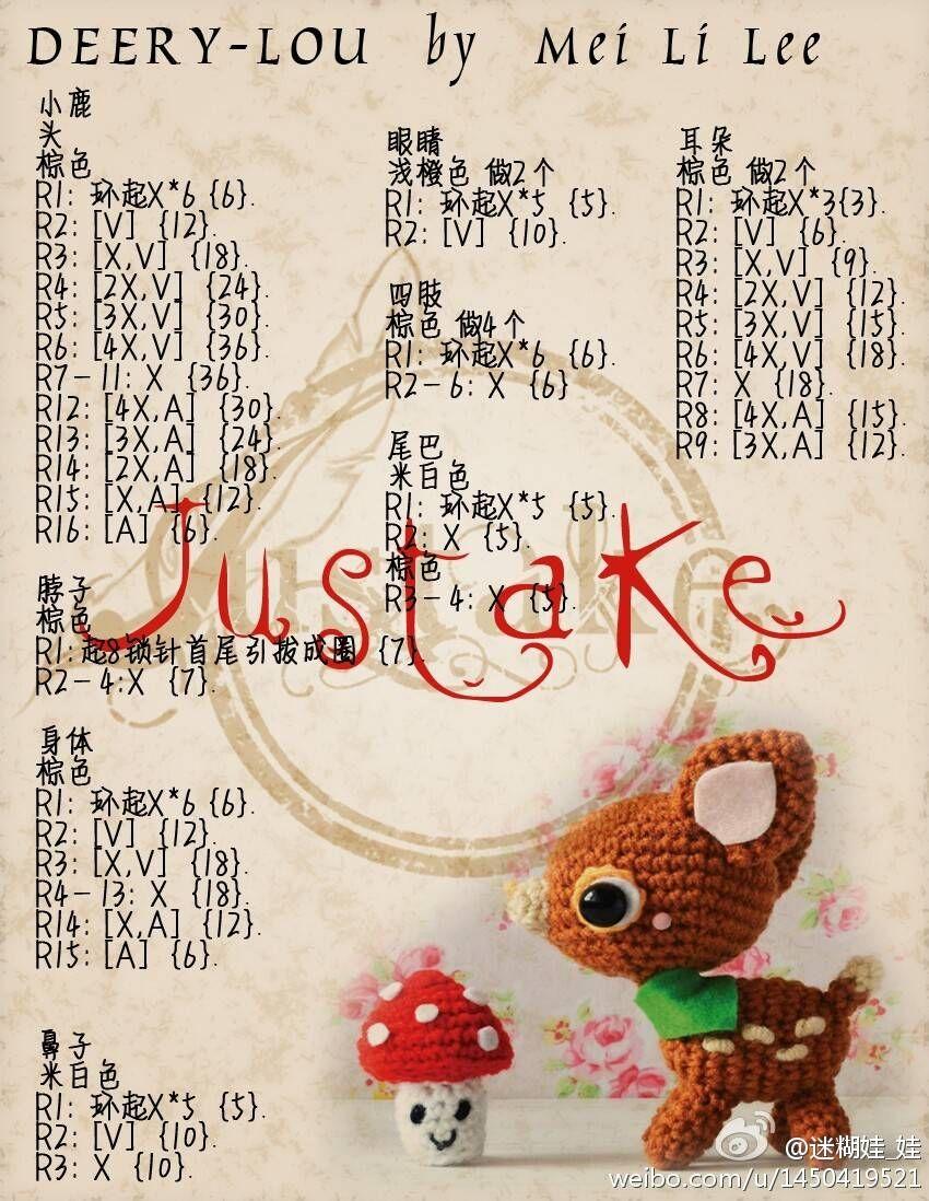 Pin de Ann Chee en crochet | Pinterest | Patrones amigurumi ...