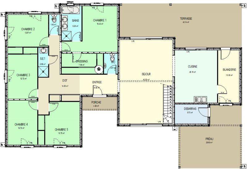 Plan De Maison 5 Chambres Infos Et Ressources