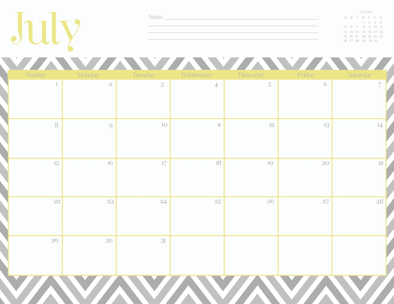 Free Monthly Calendar Templates This Site Has Lots Of Super Cute Printables Including