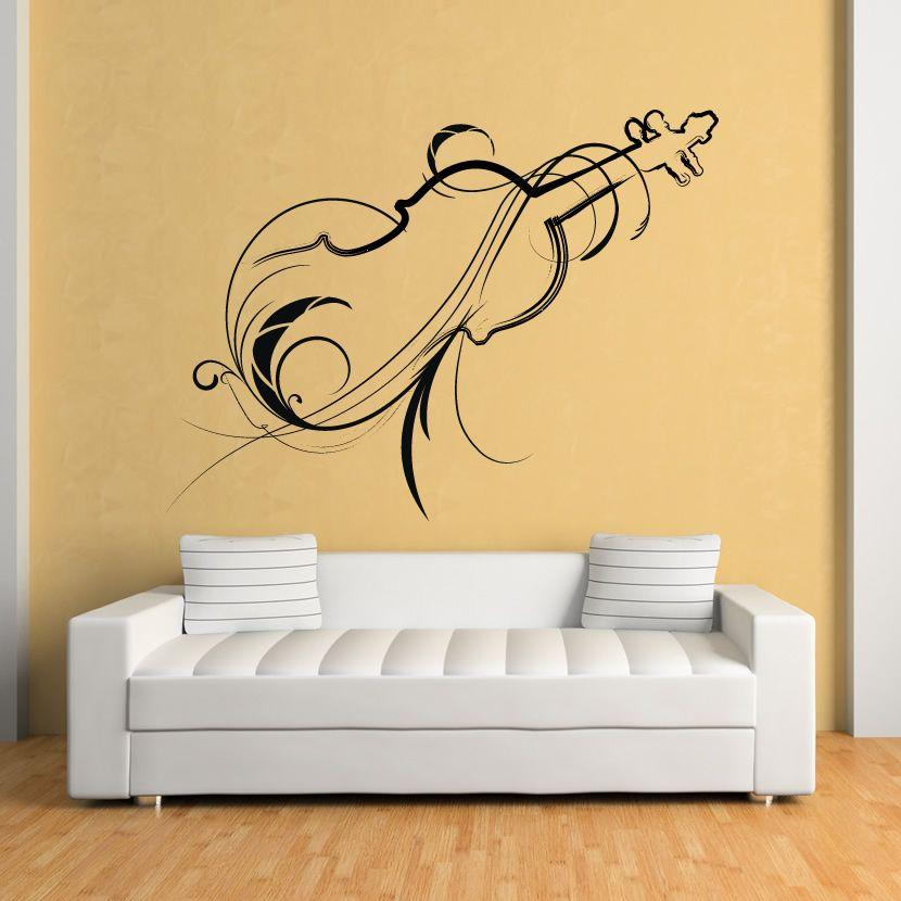 Decorative Violin Wall Art Decals Wall Stickers Transfers   Wall art ...