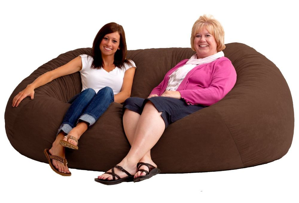Phenomenal Giant Bean Bag Chair 7 Foot Xxl Large Comfort Suede Theyellowbook Wood Chair Design Ideas Theyellowbookinfo