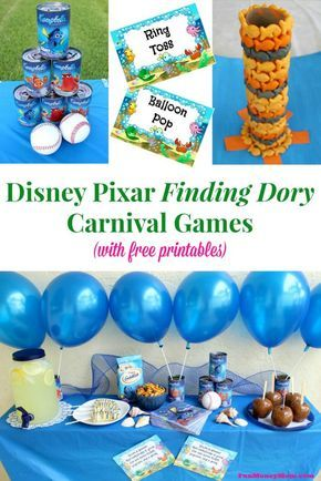 Finding Dory Carnival Games (w/ free printables) - Fun Money Mom
