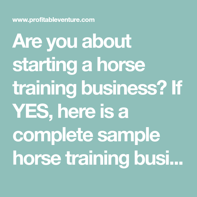 horse boarding business plan template