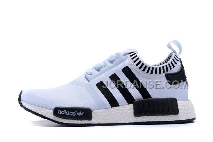 adidas men's originals nmd r1 shoes blue white by 3016