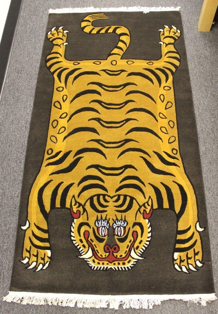 Dharmashop.com - 6 Foot 100 Knot Tiger Rug , $599.00 (http://www.dharmashop.com/6-foot-100-knot-tiger-rug/)