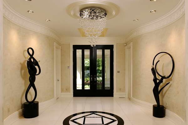 Contemporary chandeliers foyer with decorative sculptureg 600 contemporary chandeliers foyer with decorative sculptureg 600 aloadofball Choice Image