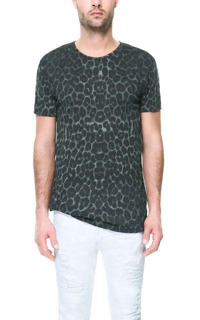 on sale 11d1b 4920b CAMISETA ANIMAL PRINT - Camisetas - Hombre   ZARA Costa Rica