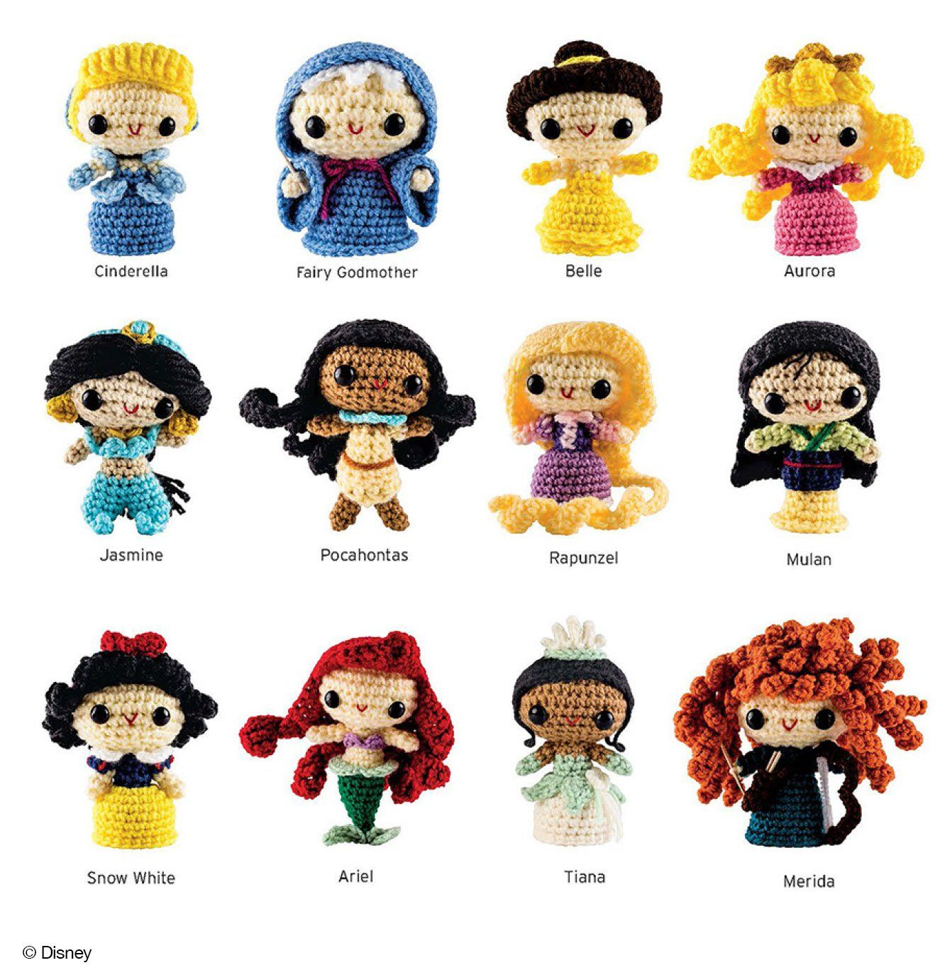 Crochet Kits: FROZEN and Princesses Amigurumi Patterns | Tejido ...
