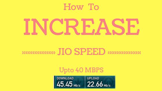 How to Increase JIO 4G download speed  Increase JIO internet