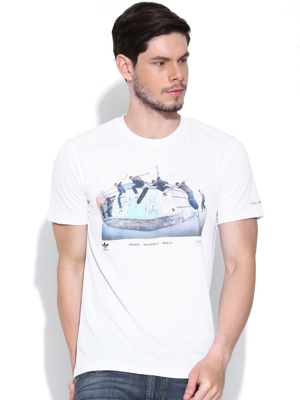 Design your t shirt myntra - Buy Adidas Originals White Ryr Richard Printed Skateboarding T Shirt Tshirts For Men Myntra