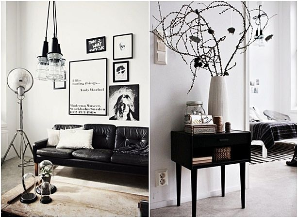 The Chic Style Of Room Decoration In Black And White