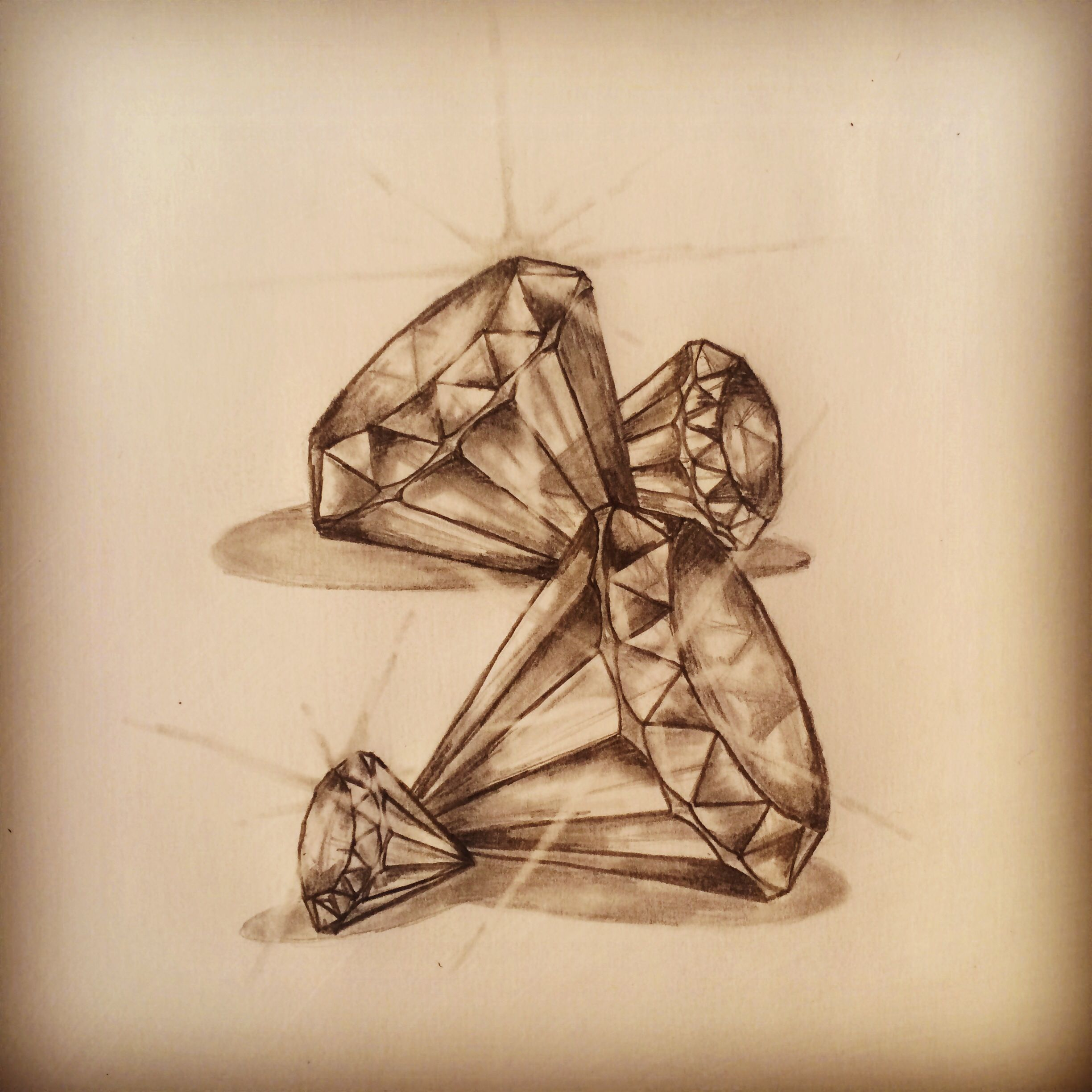 7140d37e4 Diamonds tattoo sketch by - R… | Tattoo Art / Sketches - All Pieces ...