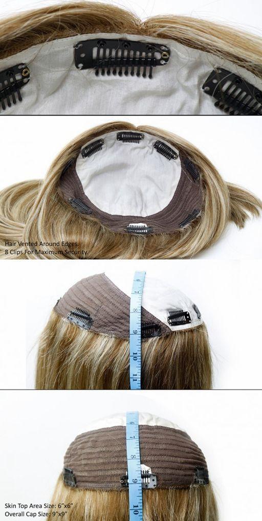 Human Hair Topper Wigswigs For Thin Hair Hair Topper Pinterest