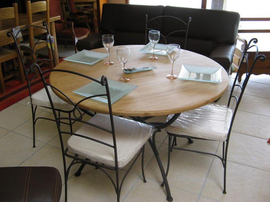 Table Ronde Cuisine Table De Salle A Manger Maisonjoffrois Within Table Cuisine Ronde