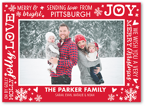 Customized Frame 5x7 Photo Card By Shutterfly Send Cheer To Friends And Family With This Christmas Card Add Your Own Greeti Photo Cards Christmas Cards Cards