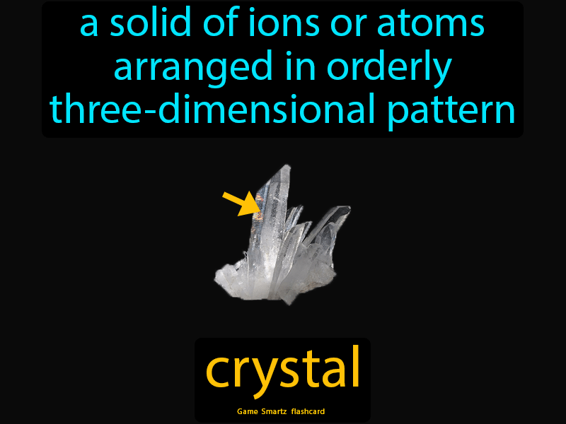 Crystal A Solid Of Ions Or Atoms Arranged In An Orderly Three