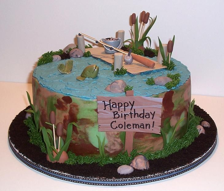 Another Neat Fishing Cake No Waterfall Though Hmm