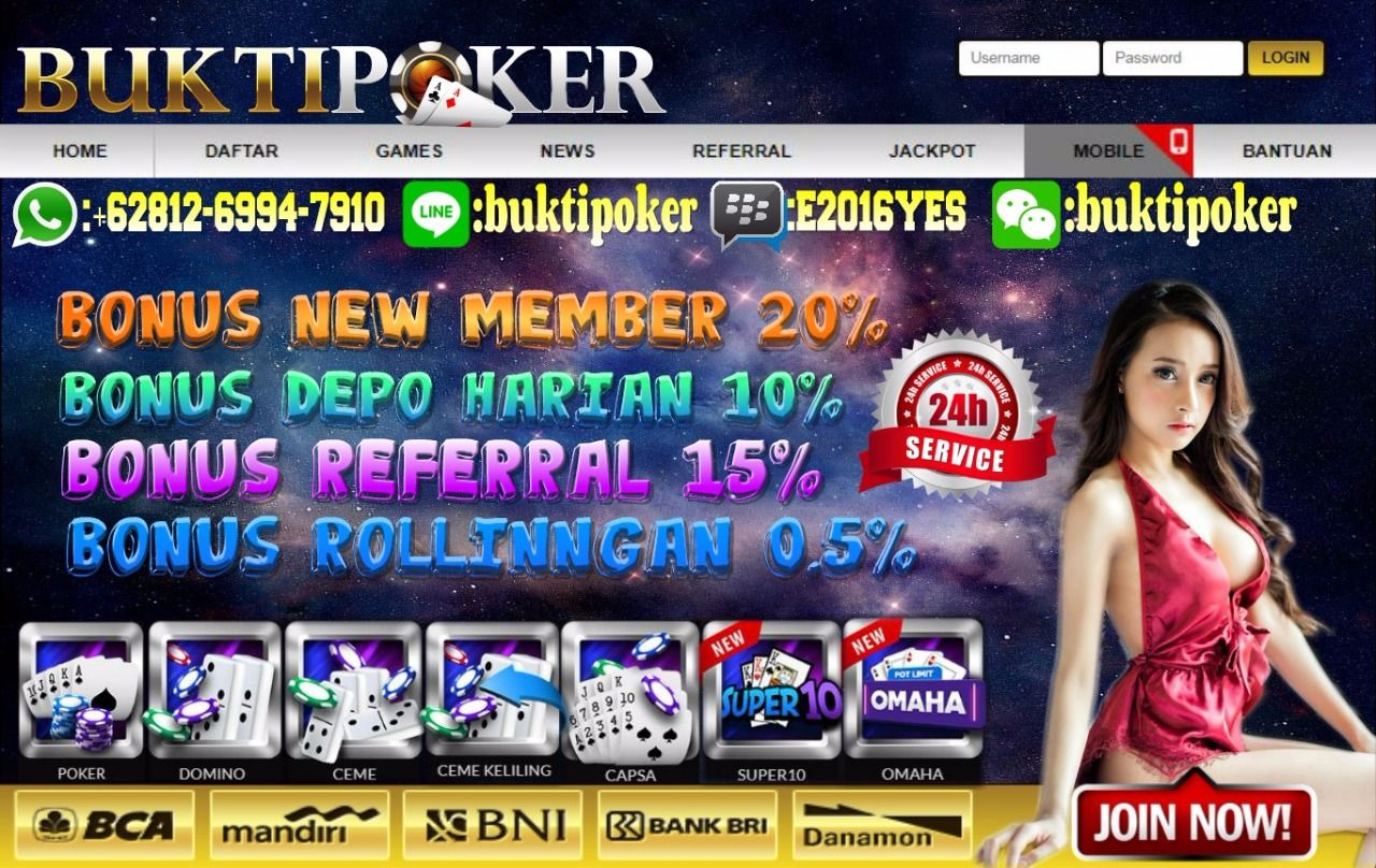 Bonus New Member 20 Dan Bonus Harian 10 000 Rb Cashback 0 5 Dan Referal 15 Di Mana Lagi Kalau Bukan Di Buktipoker Co Agen Poker Terpe Poker Pelayan Website