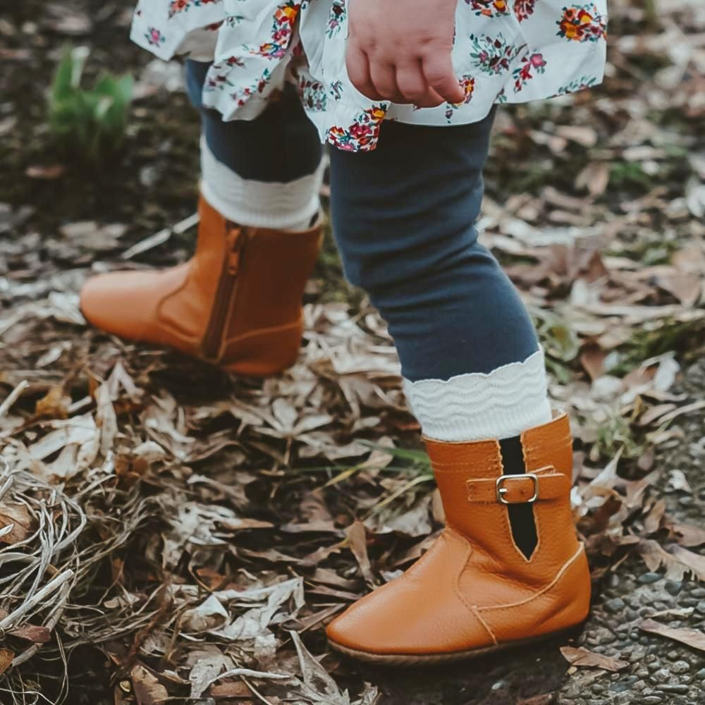 Brown Riding Moccasin Boot with