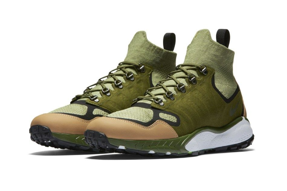 3afe106fe1e9 Nike s Air Zoom Talaria Mid Flyknit Receives A  Military Green  Colorway