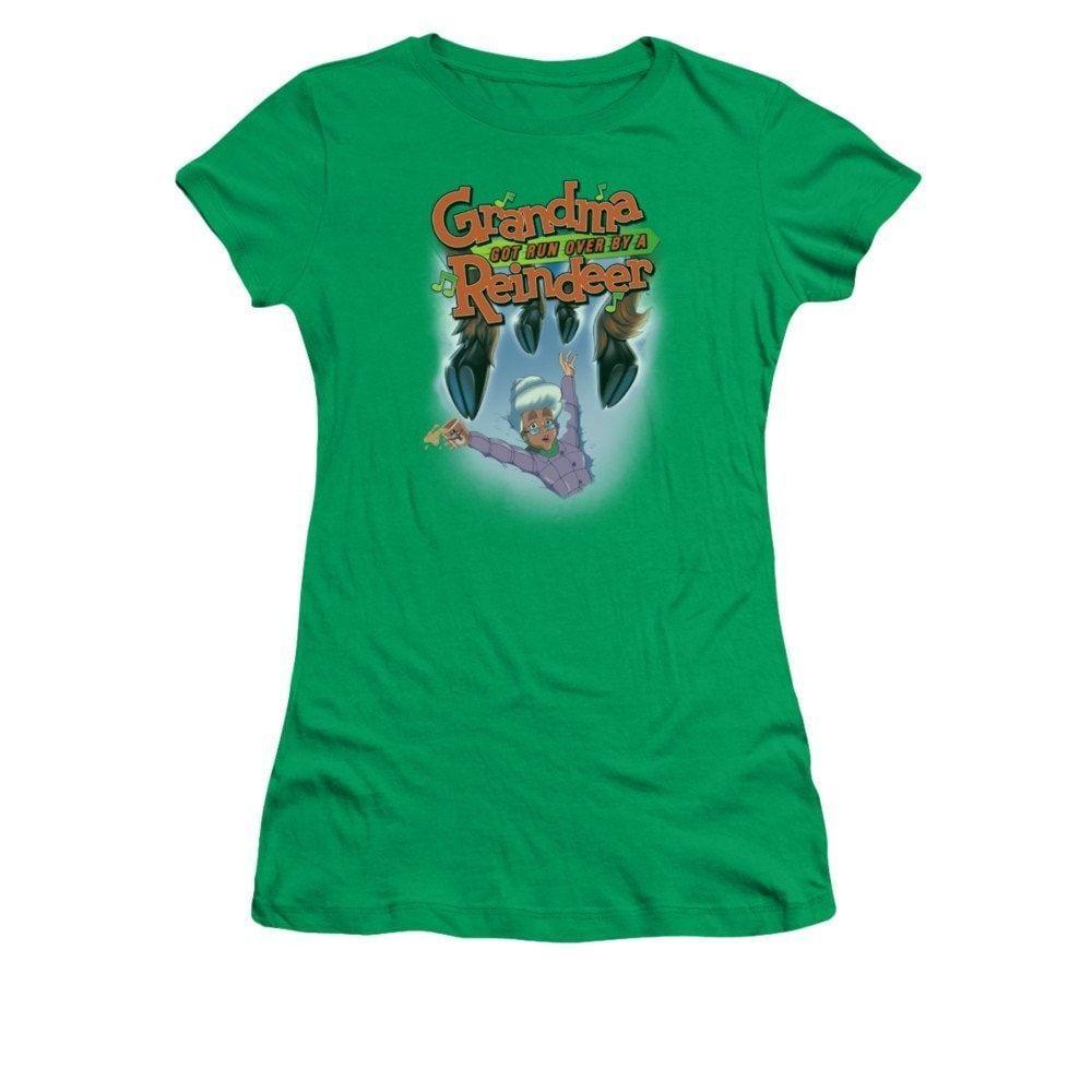Grandma Got Run Over By A Reindeer - Hooves Juniors T-Shirt Juniors T-Shirt
