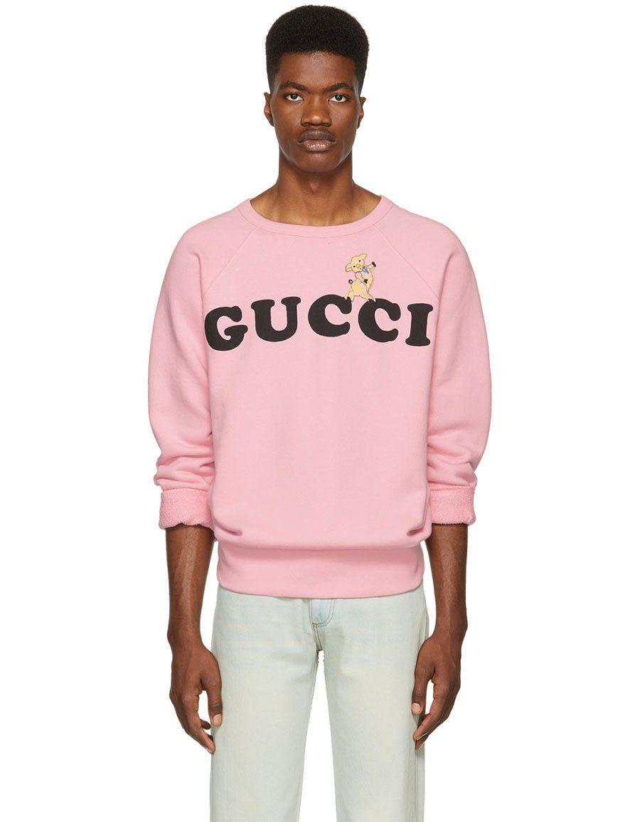 Gucci Pink Logo Sweatshirt Vergle Sweatshirts Gucci T Shirt Pink Logo [ 1155 x 900 Pixel ]