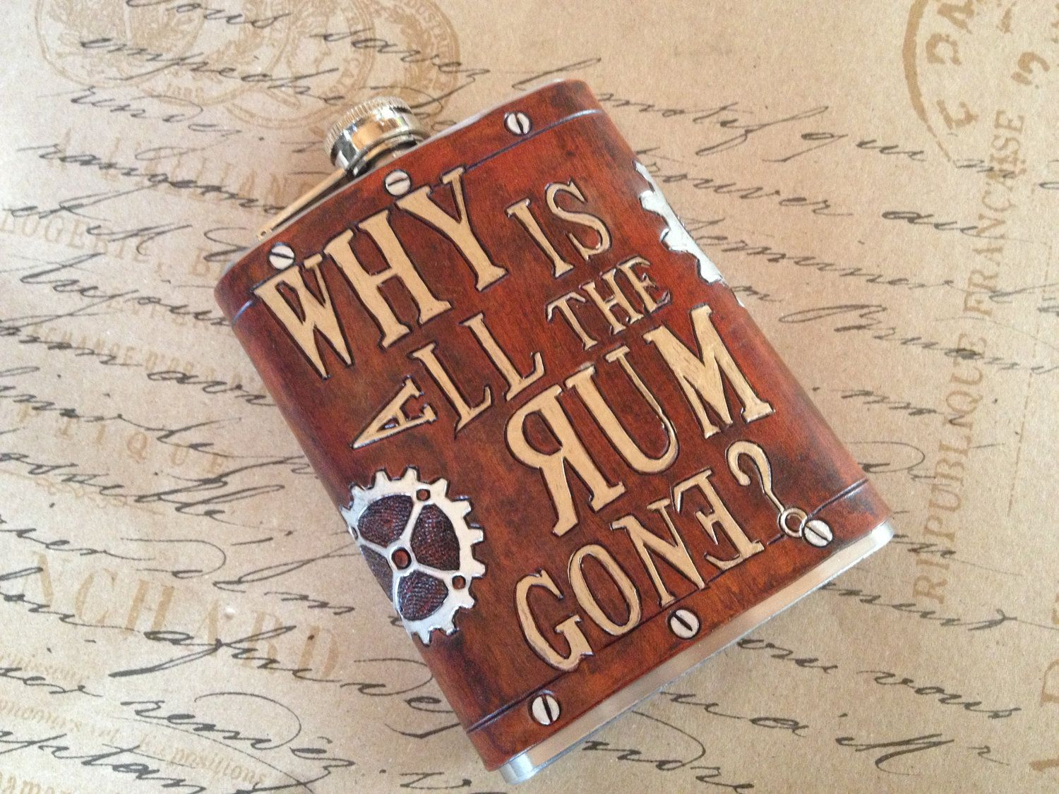 Why Is The Rum Gone Quote: Why Is All The Rum Gone- Jack Sparrow Quote Leather 8oz