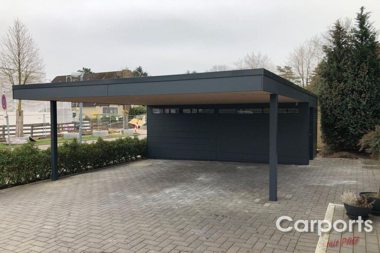 Carport Bauhaus Hpl Mit Abstellraum In 2020 Garagenbau Carport Carport Mit Abstellraum